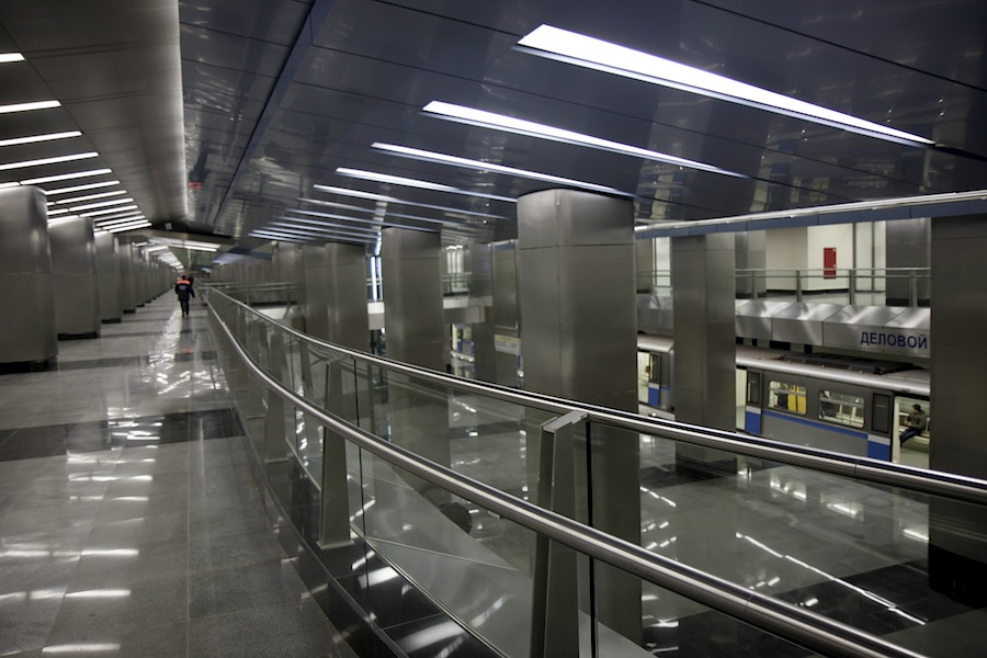 Line 8. Station 'Delovoy centr'. © Photo Yu.Gridchin, 2014