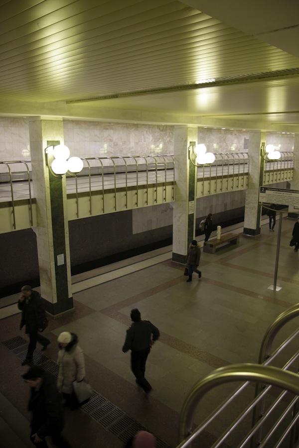 Line 9. Station 'Bul'var Dmitriya Donskogo' ©Yu.Gridchin, 2014